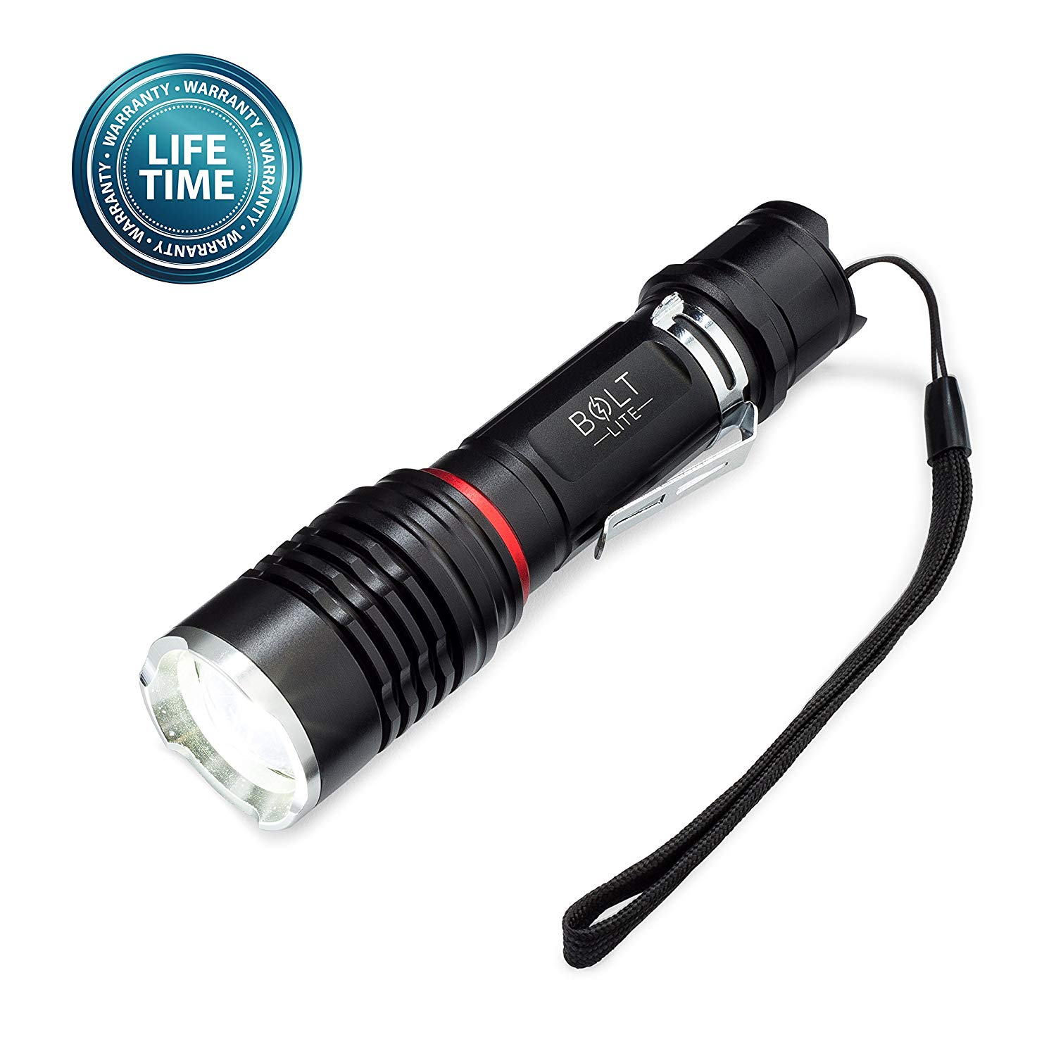 Tactical Flashlight- Rechargeable, Zoomable, Super Bright 1000 Lumens CREE LED- Includes Battery, Case, Charger