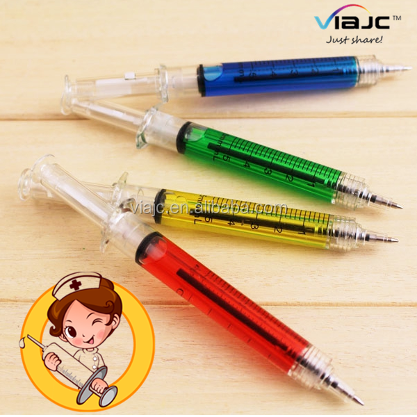 Hot products Syringe Shape Ball Pen for Doctors for promotional gift