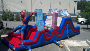 Outdoor toys games giant inflatable obstacle course for kids
