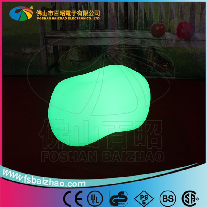 LED light up stone illuminated plastic stone