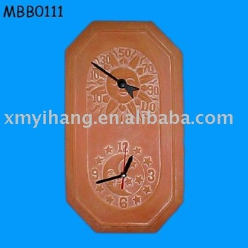 Terracotta Outdoor Clock Thermometer Buy Outdoor Clock