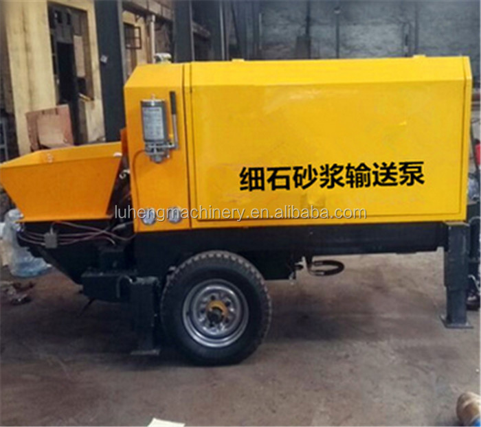 Small Hydraulic Double-piston Concrete Pump / Concrete Grouting Machine