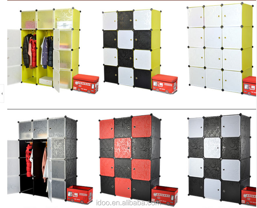 Cabinets besides the bed 2 pp plastic material cube toy storage units storage (FH-AL009-2)