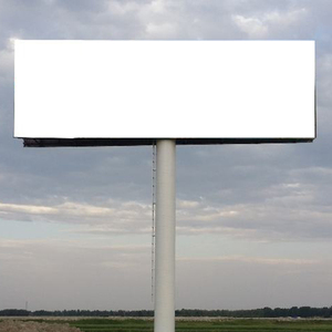Unipole Outdoor Steel Structure Advertising Billboard
