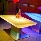 Table Sale Plastic Light Table Glowing PE Waterproof Lighting Bar Restaurant Plastic LED Table For Sale