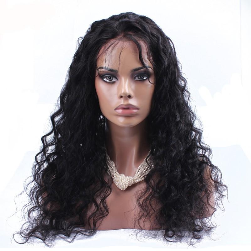 Glueless פאה הקדמי של תחרה במלאי 5 איי הבתולה מונגולית קינקי אפרו שיער מתולתל הפאה #1B צבע קינקי מתולתל עם פאה תחרה מלא