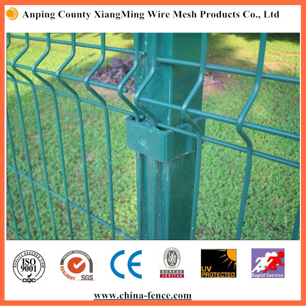 Green Welded Safety Fence Galvanized Rigid Hard Wire Mesh Panel ...