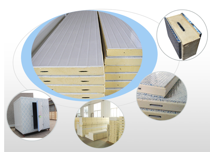 Factory price high density pu sandwich panels used for cold room