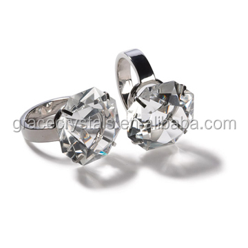 wholesale cheap napkin rings home deocration clear acrylic square napkin ring