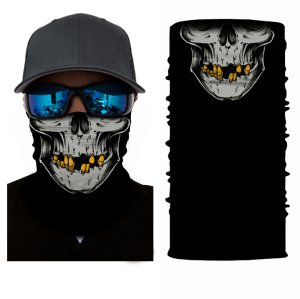Wholesale Promotional Tube Black Skull Bandana
