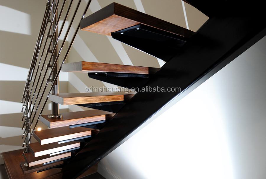 Luxury Steel Wood Staircase Mono Stringer Buy Mono