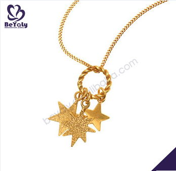 Yellow gold plating silver bijoux dream catcher necklace