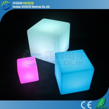 Outdoor Plastic Led Light Cube Furniture Led Cube Chair Table