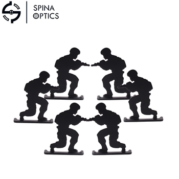Metal Airsoft Shooting Target Walking Army Style ( 6pcs/pack ) Paintball Accessories for Practicing