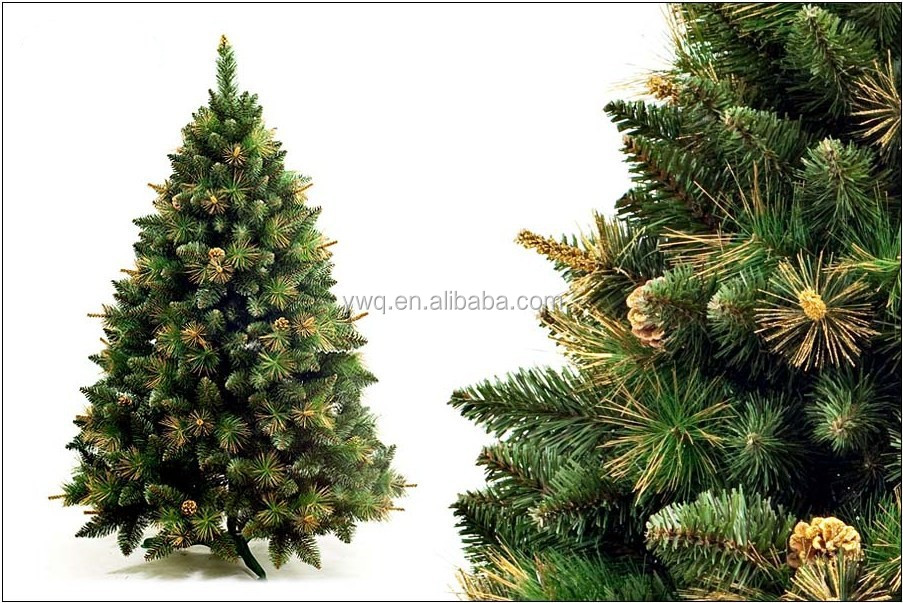 6ft Outdoor Green Metal Lighted Christmas Trees 6ft Mixed Tip Pvc ...