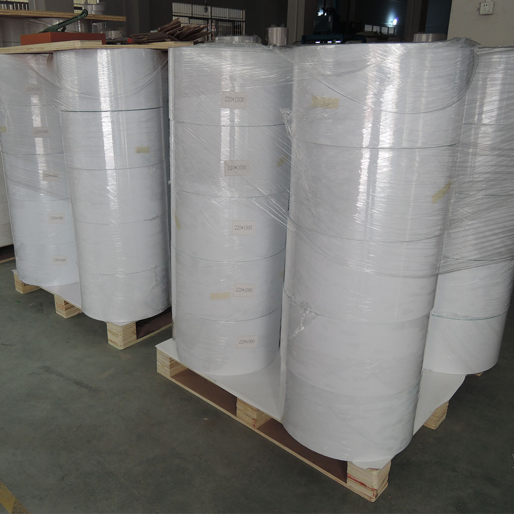 offset printing greaseproof thermal adhesive sticker paper jumbo roll