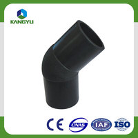 HDPE plumbing materials pipe fittings/Butt-welding elbow 45 degree