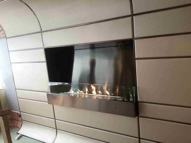 Vraie Flamme Intelligente Cheminee Bioethanol Pour Vila Hotel