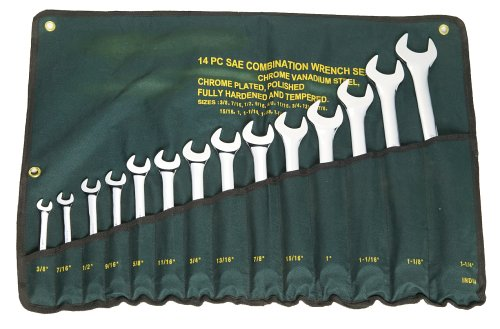 Fuller Tool 421-1314 Pro 14 Piece 3/4-Inch to 1-1/4-Inch Standard Combination Wrench Set