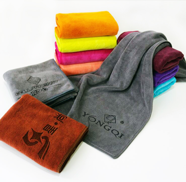 Wholesales customized microfiber face <strong>towel</strong> Weft knitting <strong>towel</strong> for face, hair, salon and hotal. 35x75cm