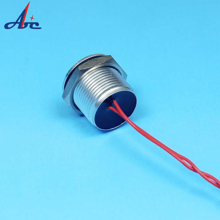 A1New Design IP68 16mm Short 1NO Momentary Natural Anodized Waterproof  Piezo Switch PS16B-PNOF-As