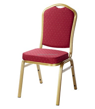 hot sale sponage seat 1.0 mm iron tube leg stackable hotel banquet chair