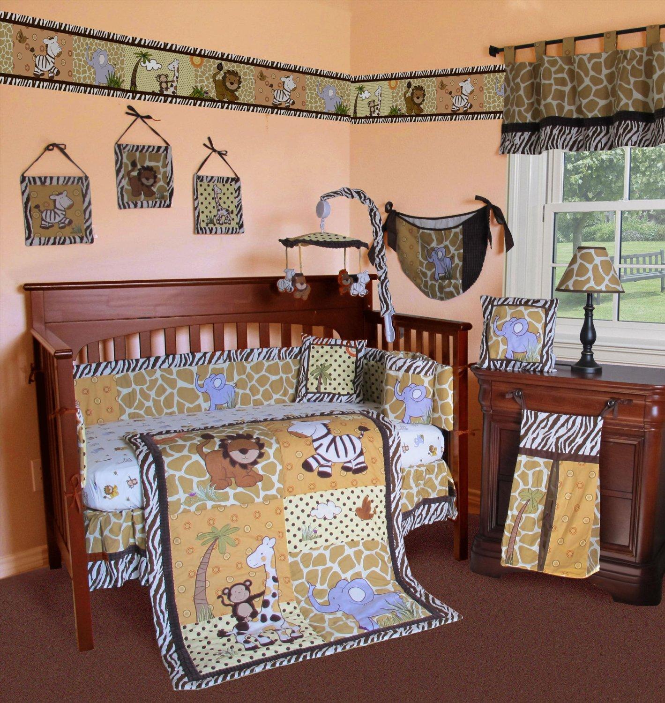 2e4a9207c0e51 Get Quotations · SISI Baby Bedding - African Safari 15 PCS Crib Bedding Set