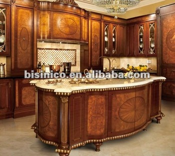 French Marquetry Style Kitchen Cabinet,solid Wood Kitchen Cabinet,kitchen  Furniture