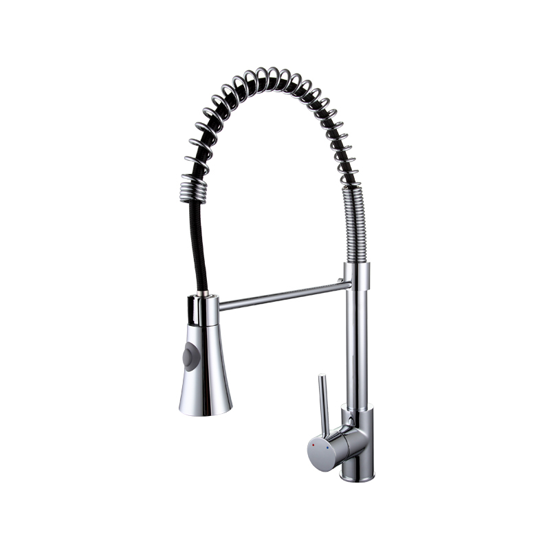 Frap <strong>Spring</strong> Fixed Swivel Spout Single Handle Tap Pull out Spray Sink Chrome With Push Button Pull Down <strong>Kitchen</strong> <strong>Faucets</strong> F4452