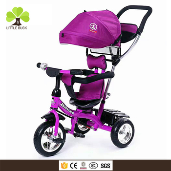 d44aa56e309 China wholesale baby tricycle with trailer, kids push tricycle kids 1to 6  years old,
