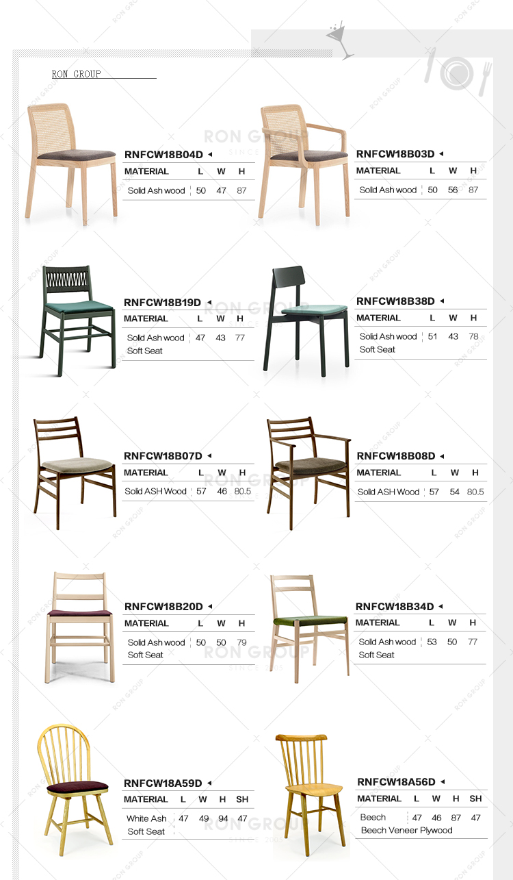 Restaurant Cafe Wood Easy Dining Chair
