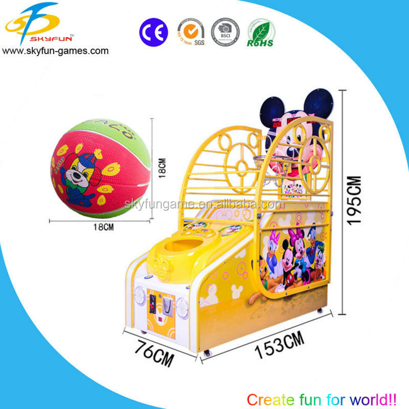 Unique foldable case mini basketball game machine