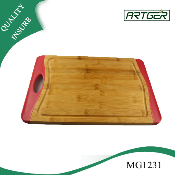 High Quality Custom Bamboo Silicone engraved Cutting Board