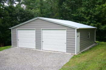 Steel metal garage kits prefab metal garage building car garage design buy - Garage beton modulaire ...