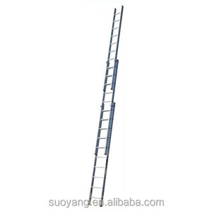 NEW Practical 8 meter folding aluminum straight scaffolding ladder used