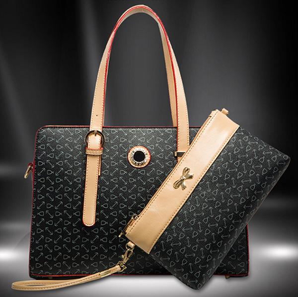 b290dbf1ae60c Sıcak kalite toptan fiyat moda pu deri genç kız çanta el çantası seti
