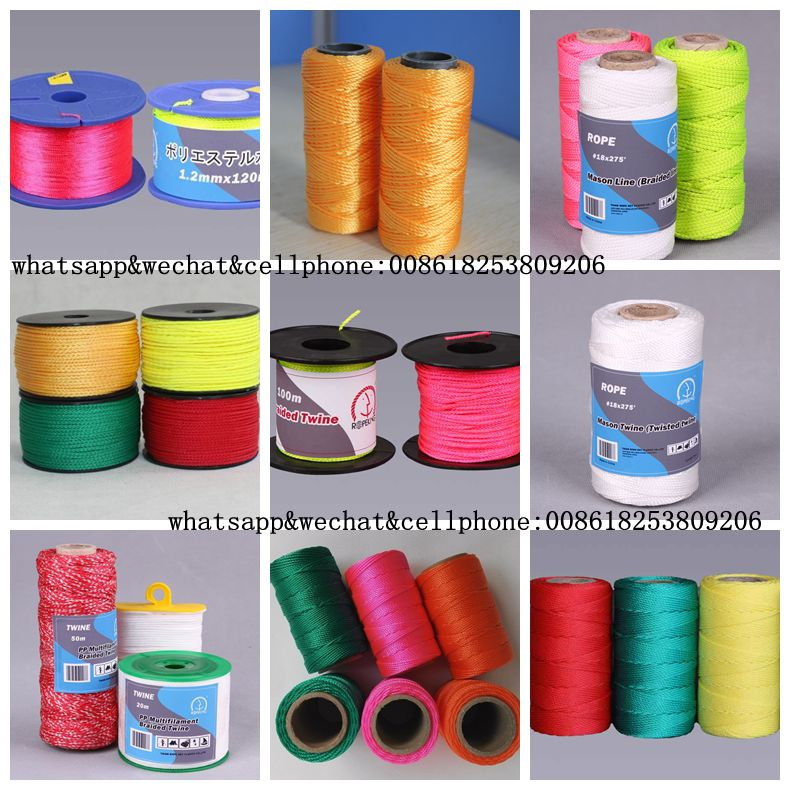 Color PE twisted twine spool/nylon twine for dubai market from Rope Net Vicky //M:8618253809206 E:ropenet16@ropenet.com