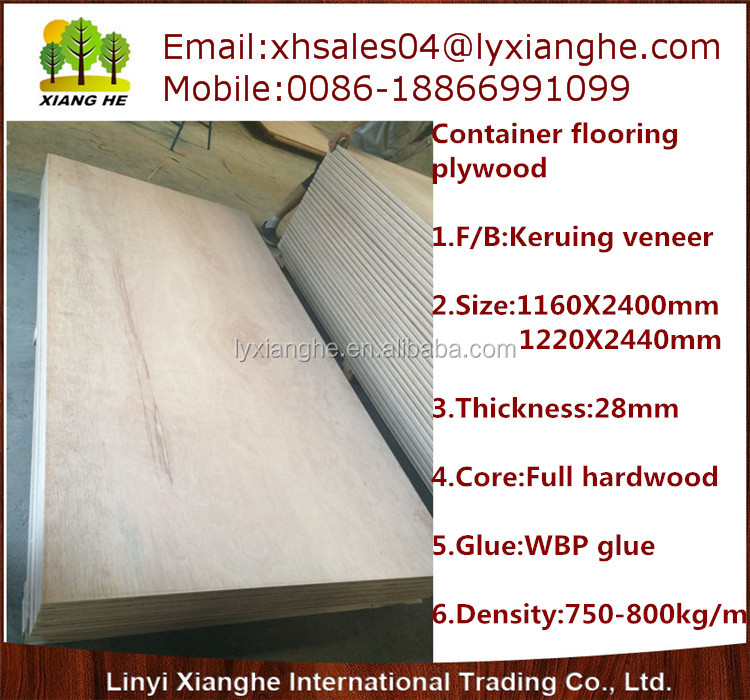 Top grade container flooring plywood China supplier