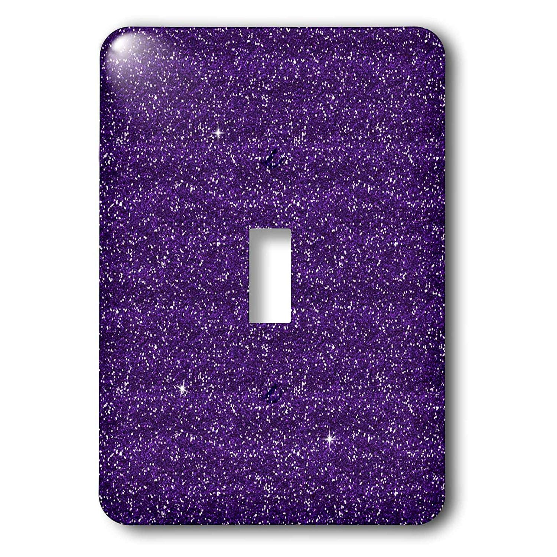 3dRose (lsp_254796_1) Single Toggle Switch (1) Purple Faux Printed Glitter
