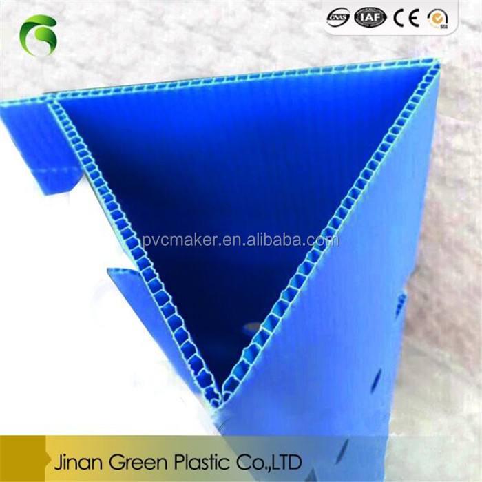 2017 Hot Selling Corrugated Corflute Sheet For PP Triangle Plant Guards