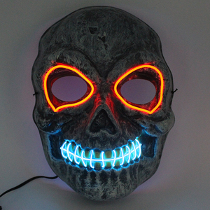 Halloween Make Up Wholesale Masquerade Mask With EL Wire Led Light