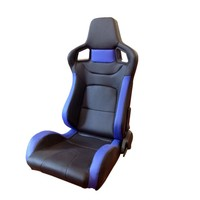 Whole sales Racing Seat High Quality PVC Blue with single rails and single adjustor for auto car use sports seat