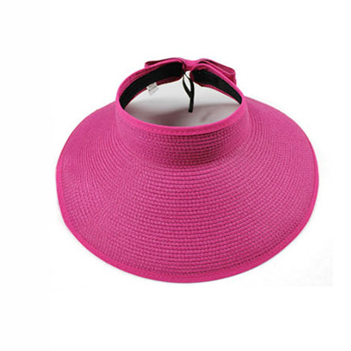 0de331b9 Get Quotations · Women's Sun Hats Foldable Large Brimmed Beach Hats UV  Visor Straw Fashion Summer Outdoor Travel Ladies