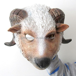 Halloween Latex Goat Mask, Latex Sheep Head Mask