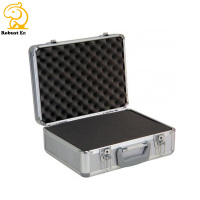 Ningbo Factory Instrument Case Heavy Duty Aluminum Portable Display Case with Die Cut Eva Foam