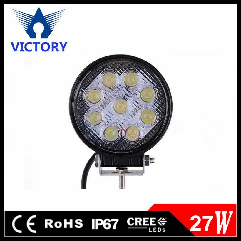 Victory round led light driving light 27w luz led para autos