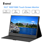 "Eyoyo 13.3"" Portable Touchscreen Monitor, 1920x1080 IPS Gaming Monitor compatible for Xbox PS3 PS4 WiiU Switch"