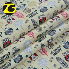Malaysia market wholesale natural printed cotton polyester canvas bag fabric