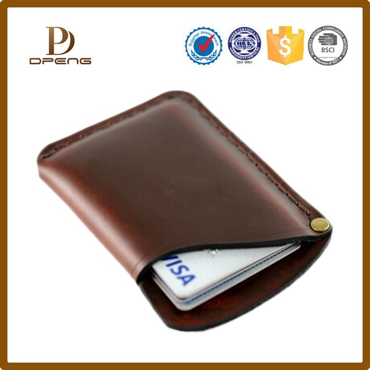 Shenzhen OEM manufacturer real cow leather credit card holder