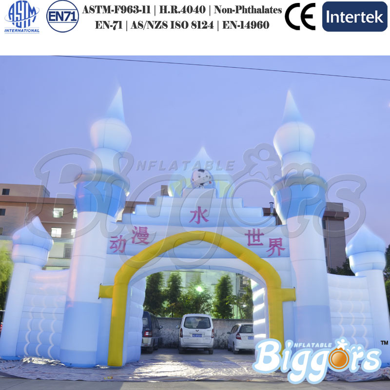 Giant Anime Inflatable Arch Beautiful Inflatable Arch For Park